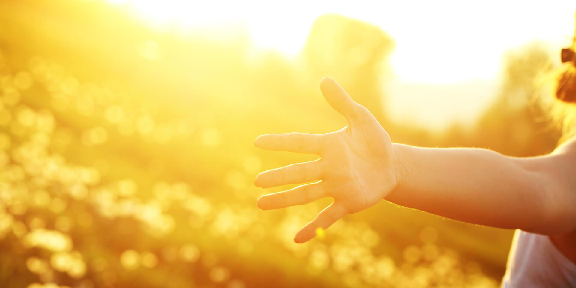 Mensch im Sonnenlicht