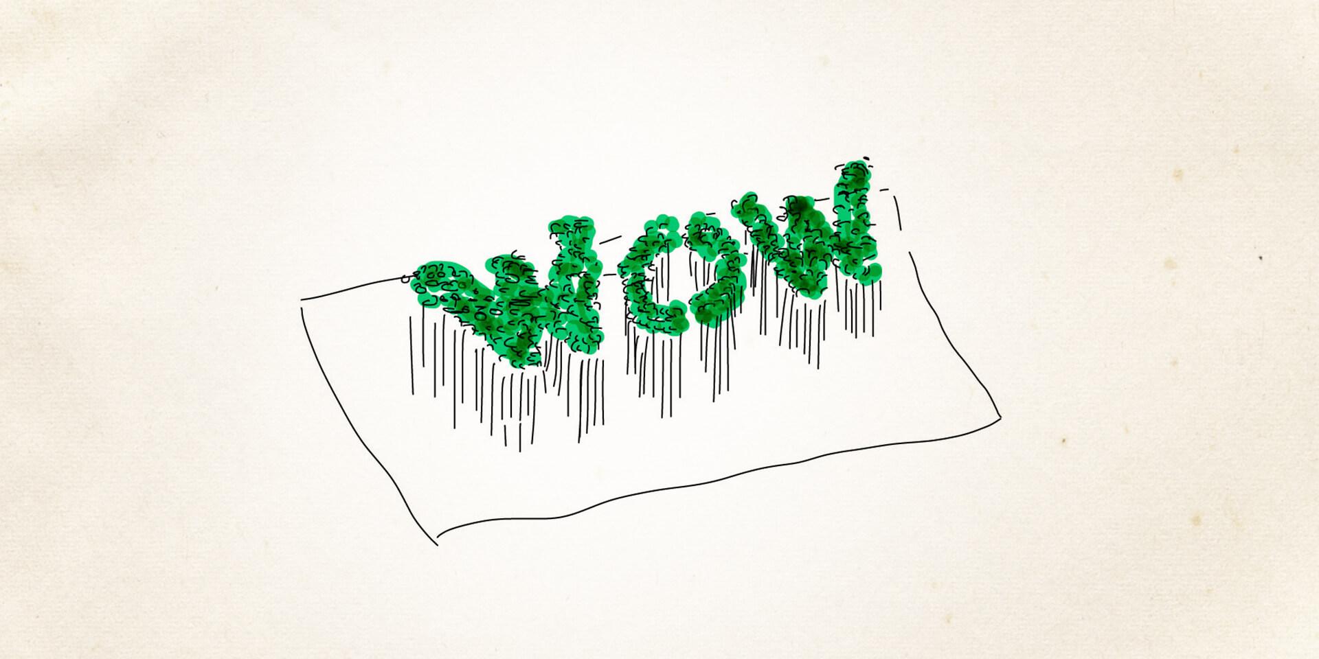 WOW - Ein Wort aus Kresse