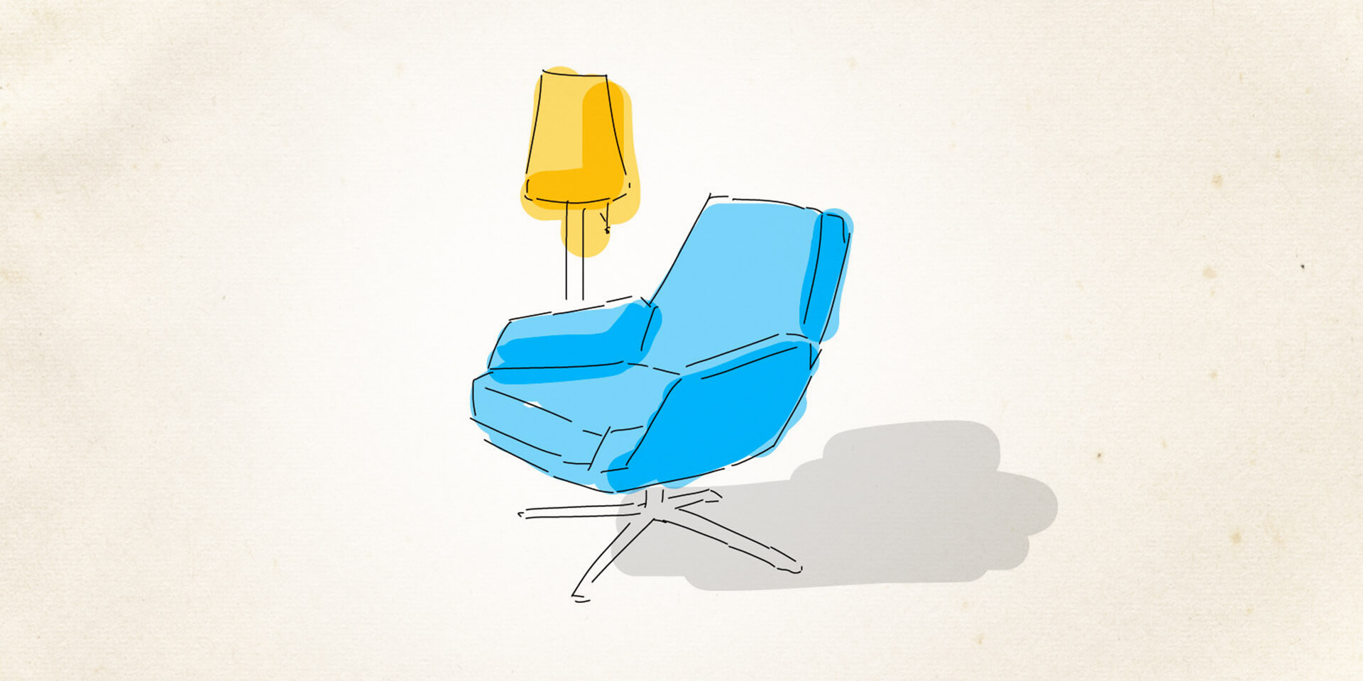 Sessel und Lampe